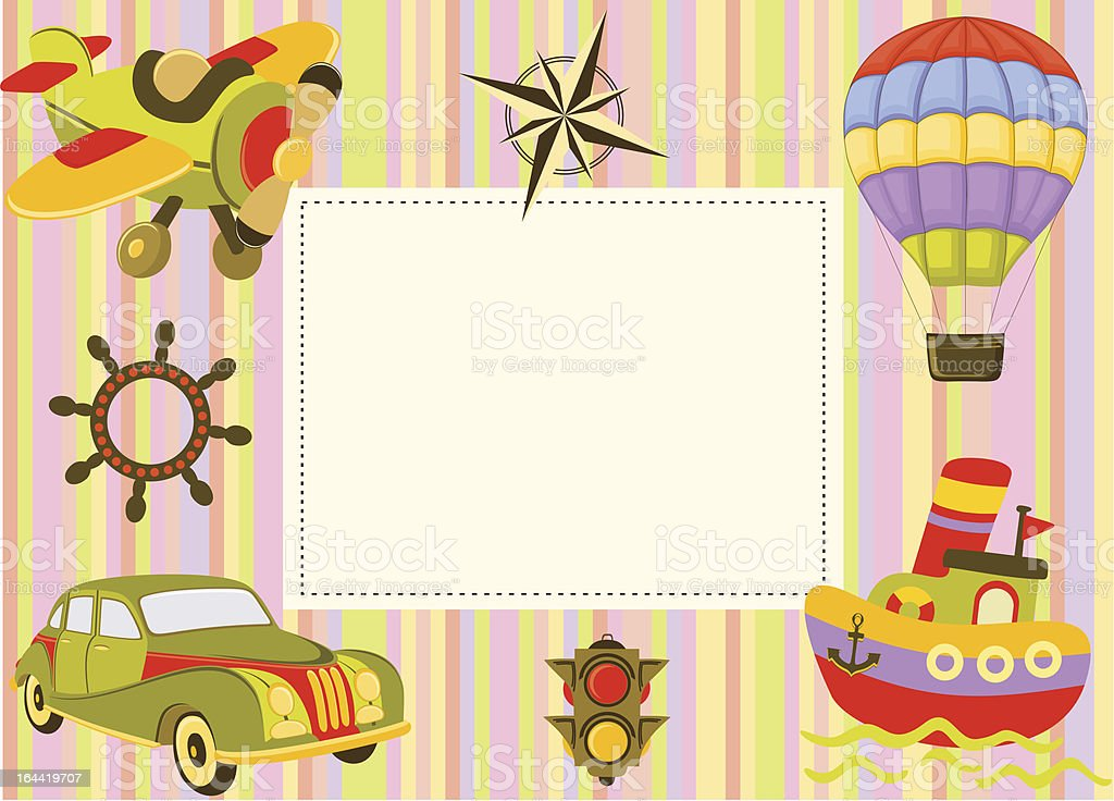 Baby frame or greeting card royalty-free stock vector art