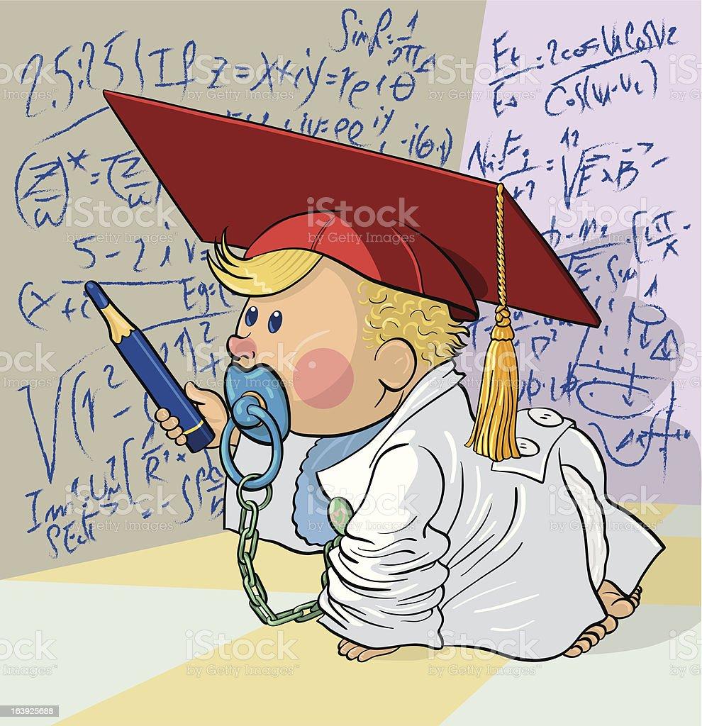 Baby genius royalty-free stock vector art