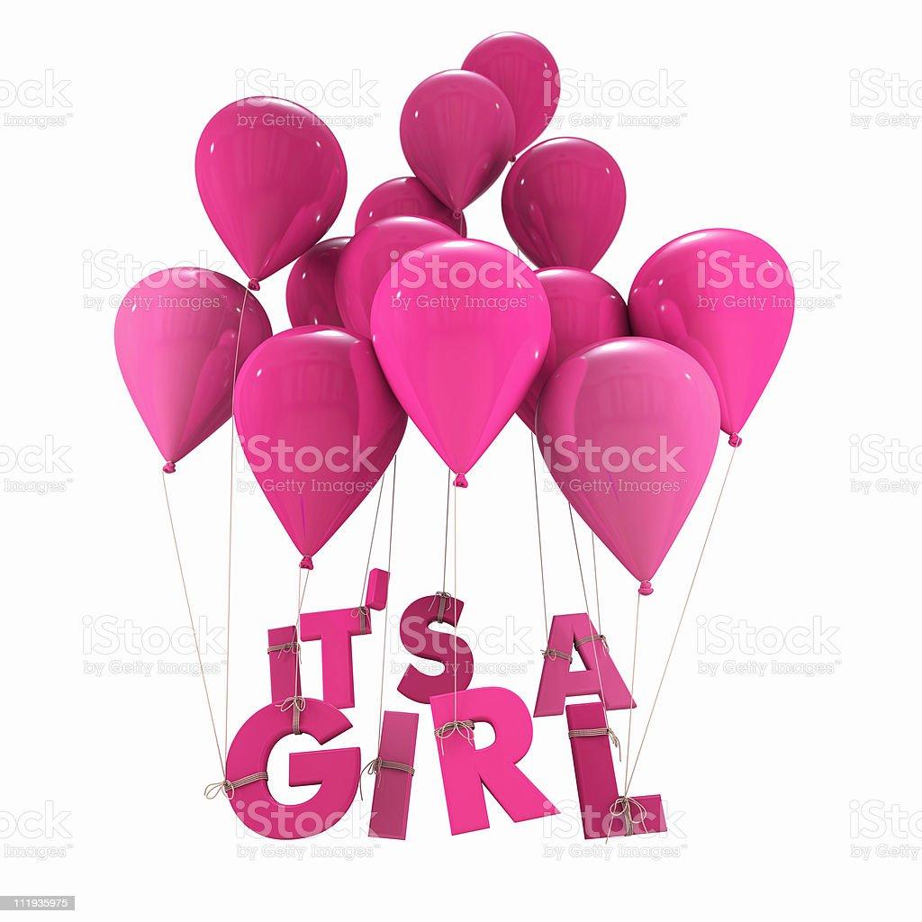 Baby girl birth announcement royalty-free stock vector art