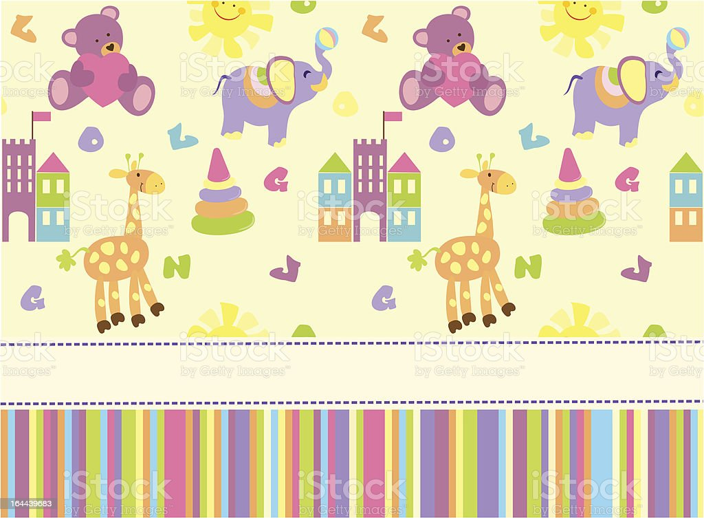 Baby greeting card or invitation royalty-free stock vector art