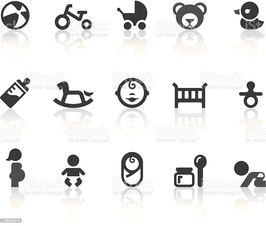 Baby Icons - Simple Black Series vector art illustration