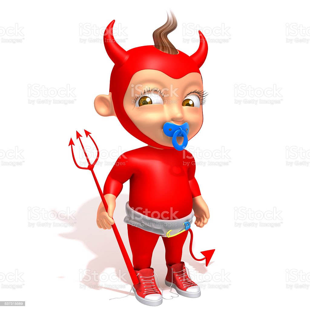 Baby Jake devil 3d illustration vector art illustration