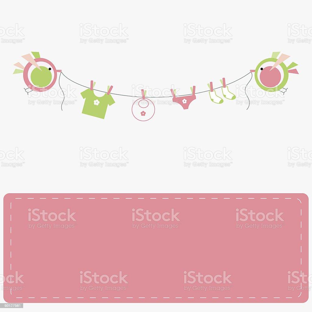 Baby laundry royalty-free stock vector art