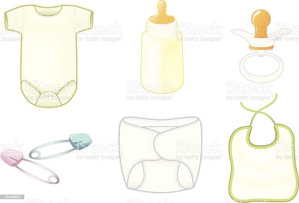 Baby Layette Collection royalty-free stock vector art