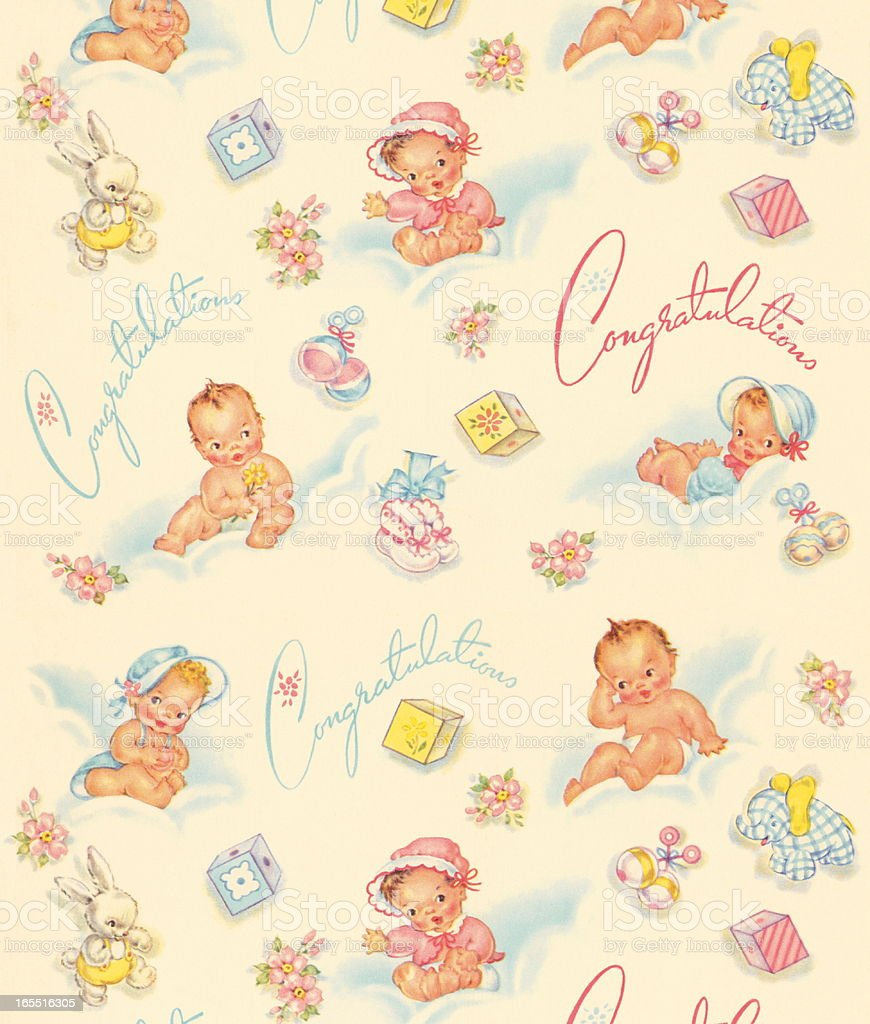 Baby Pattern royalty-free stock vector art