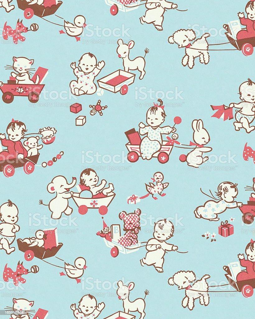 Baby Pattern royalty-free stock vector art
