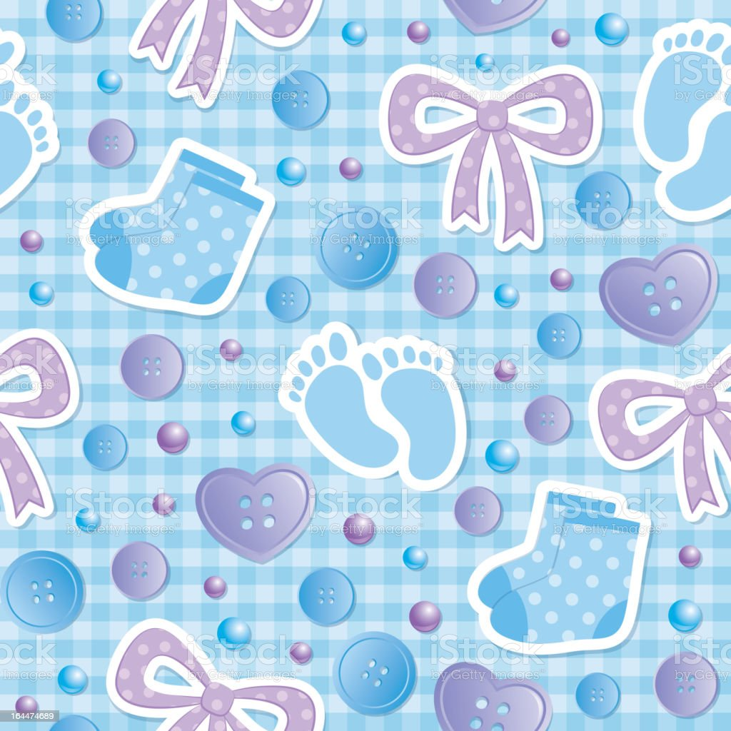 baby seamless pattern, vector eps 10 royalty-free stock vector art