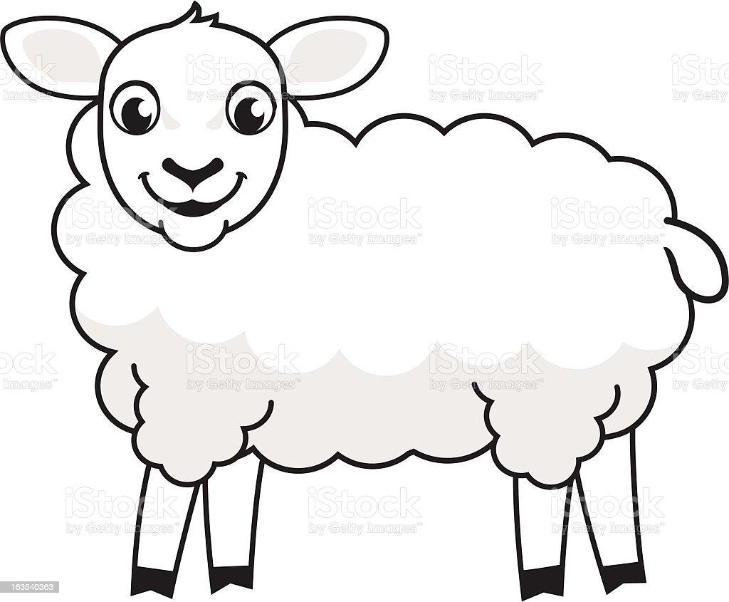 赤ちゃん羊 ロイヤリティフリーのイラスト素材