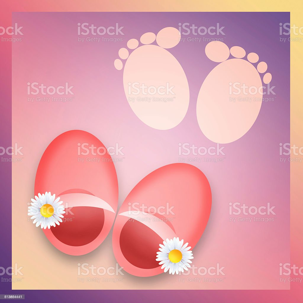 Baby shoes vector art illustration