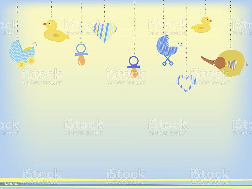 baby shower background vector art illustration
