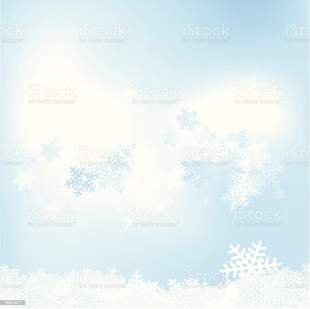 Baby-blue flakes royalty-free stock vector art