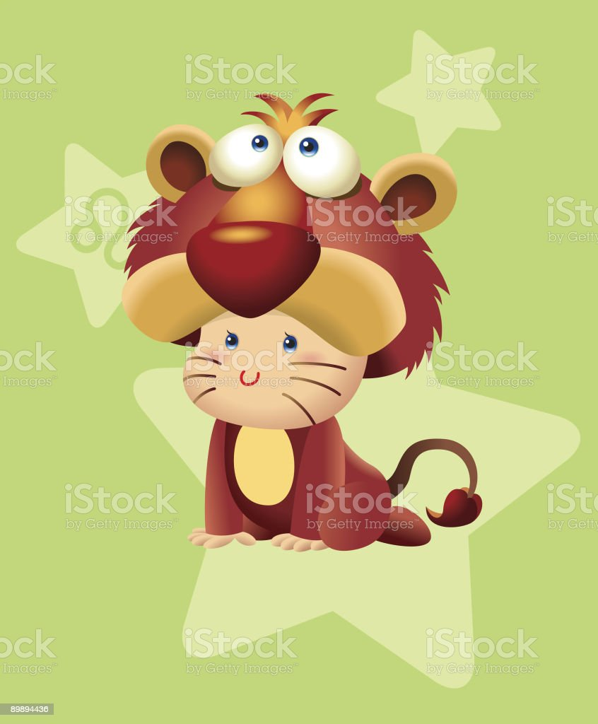 BabyHoroscope - Leo royalty-free stock vector art