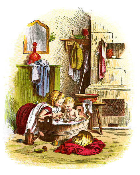 Kids Bathroom Art Pictures Clip Art, Vector Images & Illustrations ...