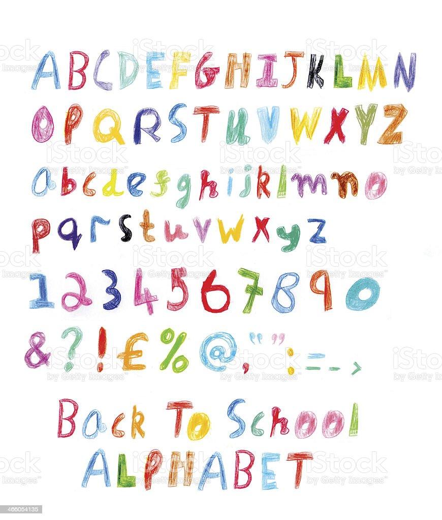 Back To School Alphabet vector art illustration