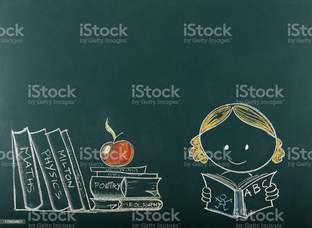 Back to School Concept on Blackboard.Copy Space. vector art illustration