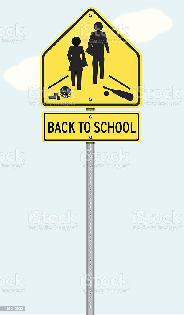 Back To School Sign royalty-free stock vector art