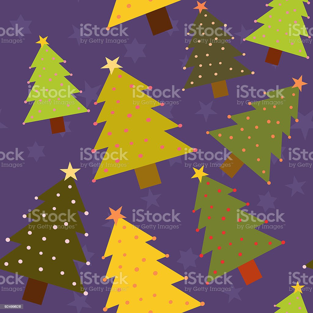 Background 3: Christmas Trees (Seamless) royalty-free stock vector art