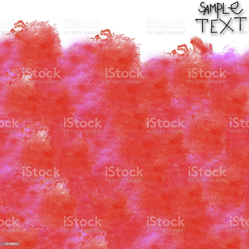 background art hand red watercolour brush texture isolated royalty-free stock vector art