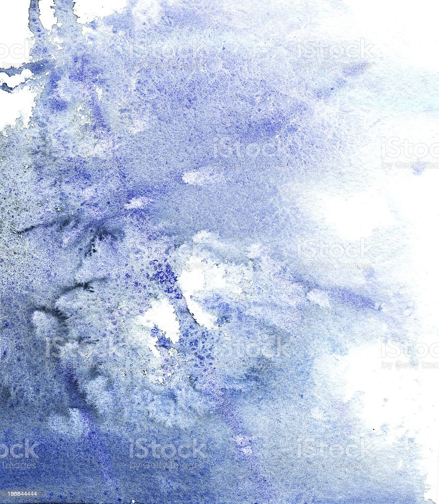 Background Blue Watercolors Paint royalty-free stock vector art