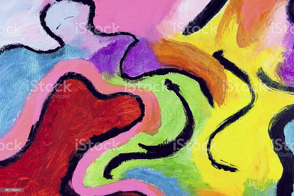 Background composed by colors combined in different abstract shapes royalty-free stock vector art