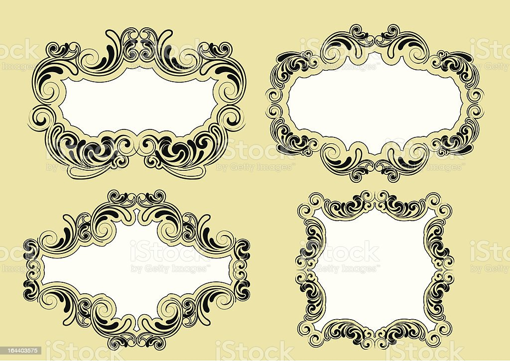 Background frame set royalty-free stock vector art