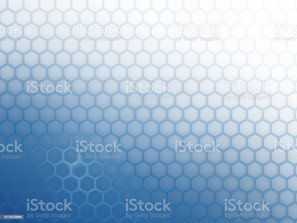 Background grid of hexagons vector art illustration