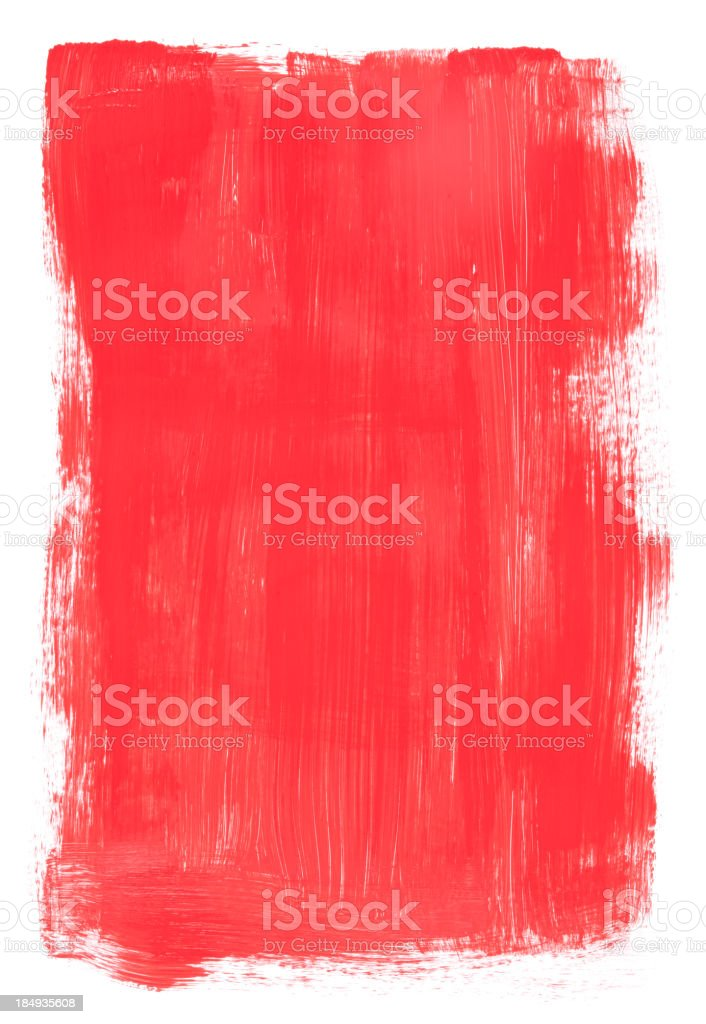 Background illustration of red brush painted texture royalty-free stock vector art