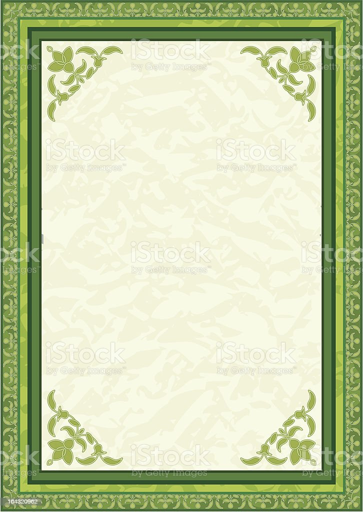Background in green royalty-free stock vector art