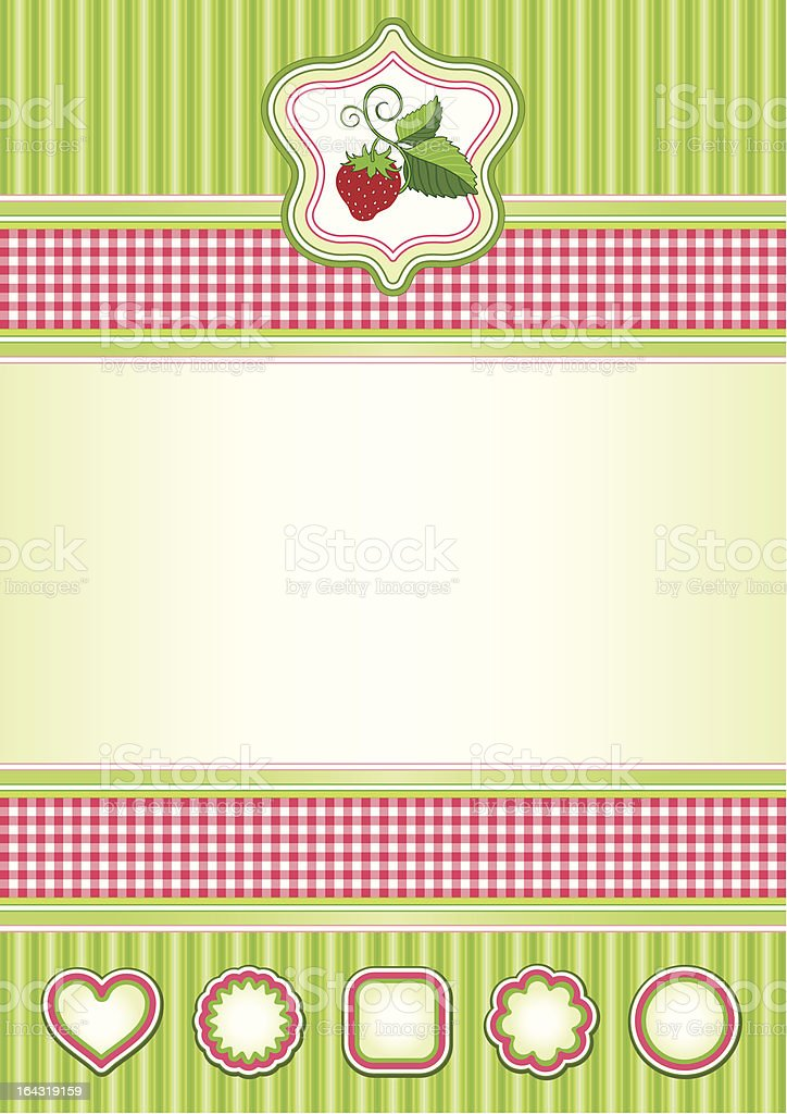 Background in red and green royalty-free stock vector art