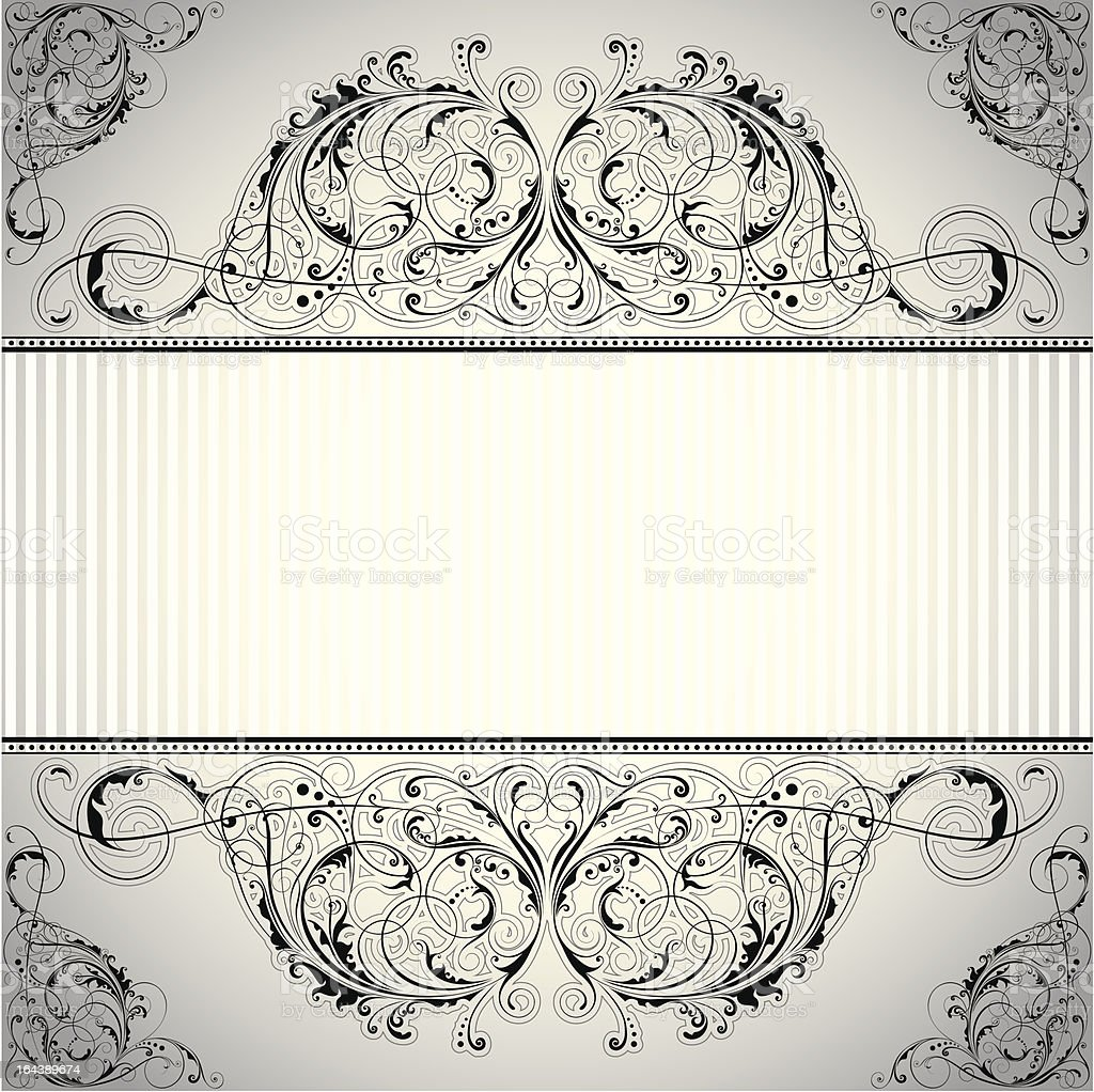 Background label floral design royalty-free stock vector art