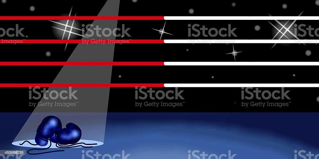 Background of Boxing Ring vector art illustration