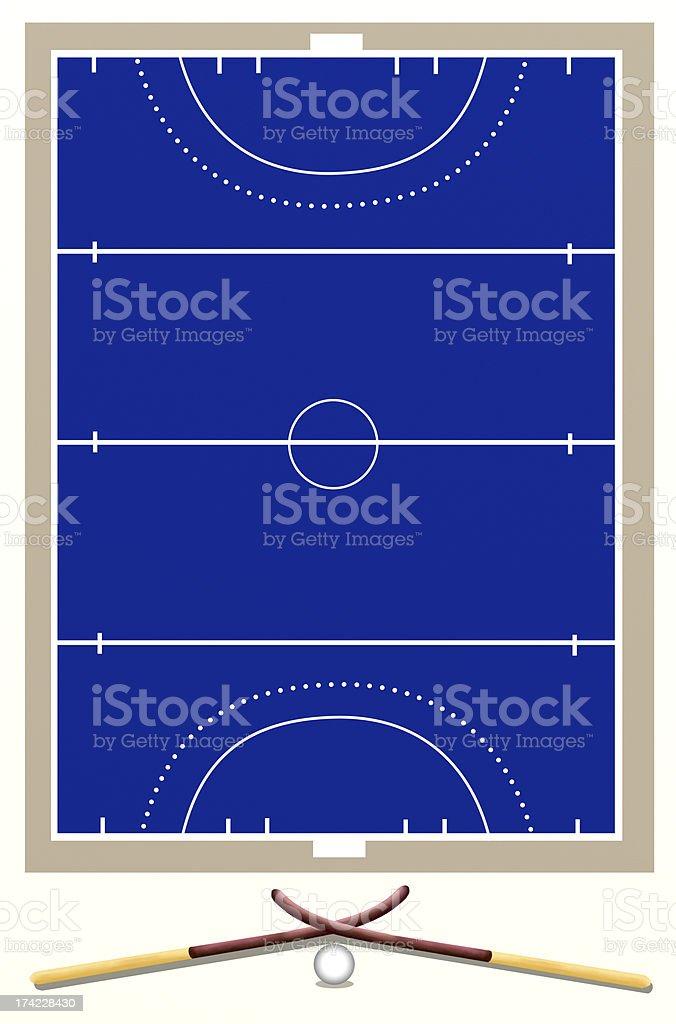 Background of Hockey Field vector art illustration