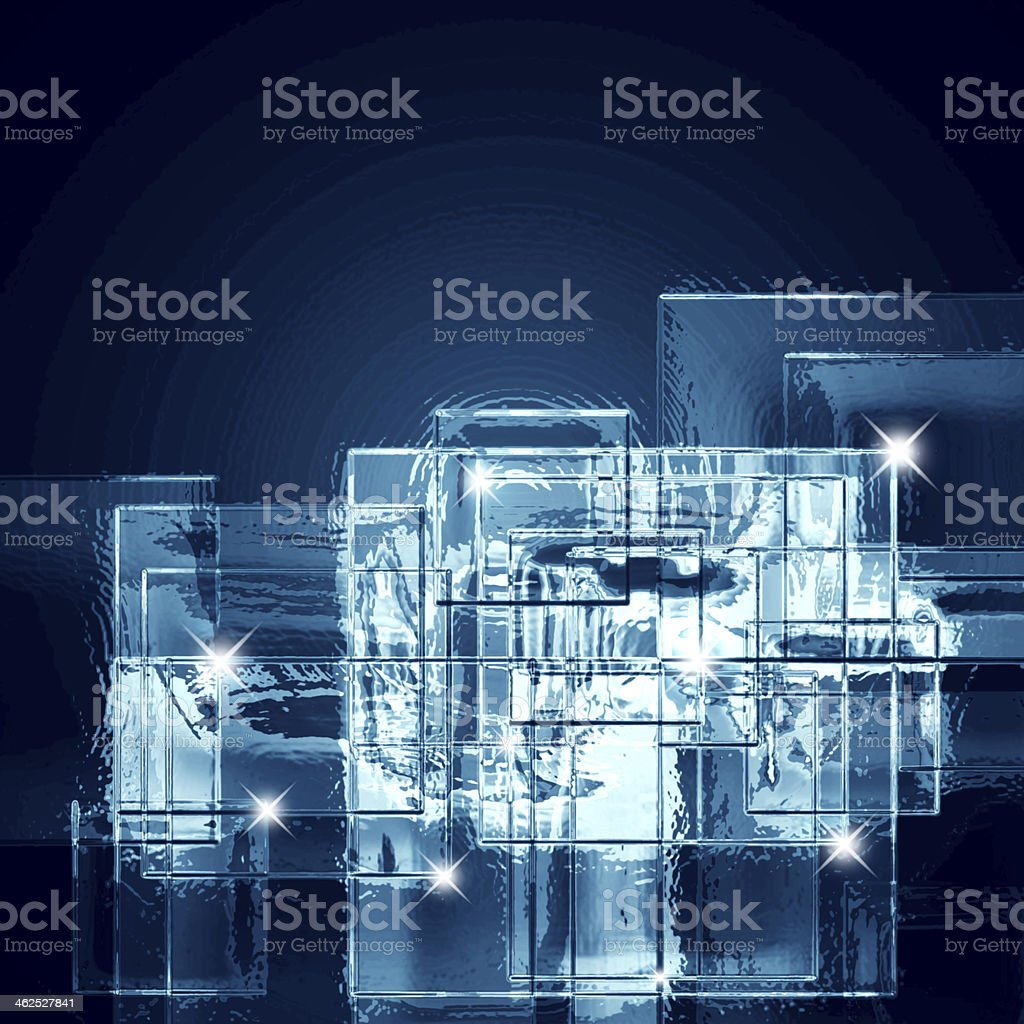 background of ice squares vector art illustration