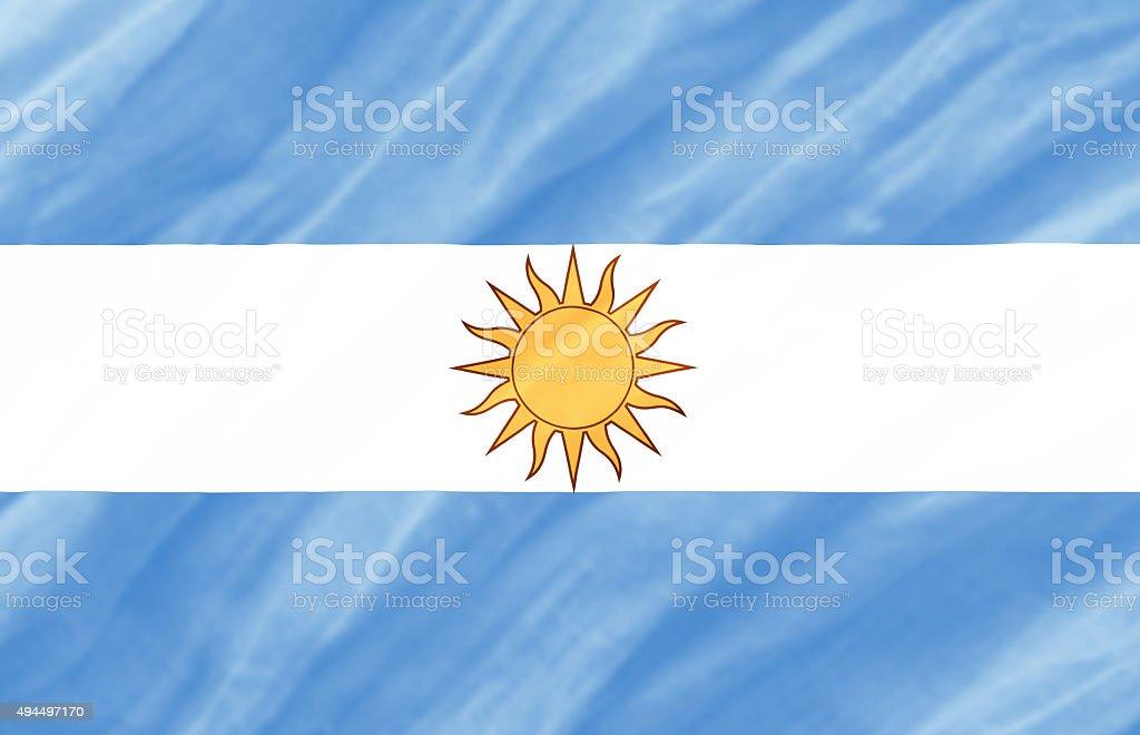 background of ripple Argentina flag vector art illustration