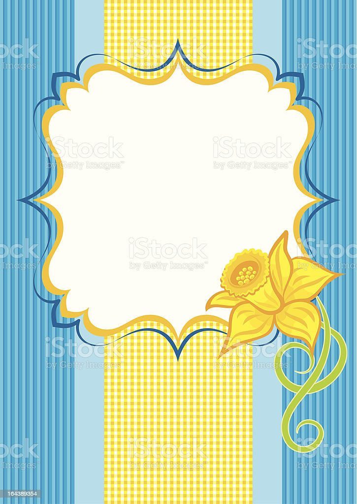 Background with a daffodil royalty-free stock vector art