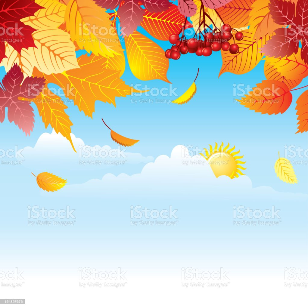 background with autumn leaves royalty-free stock vector art
