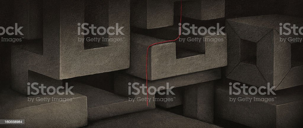 Background with blocks royalty-free stock vector art