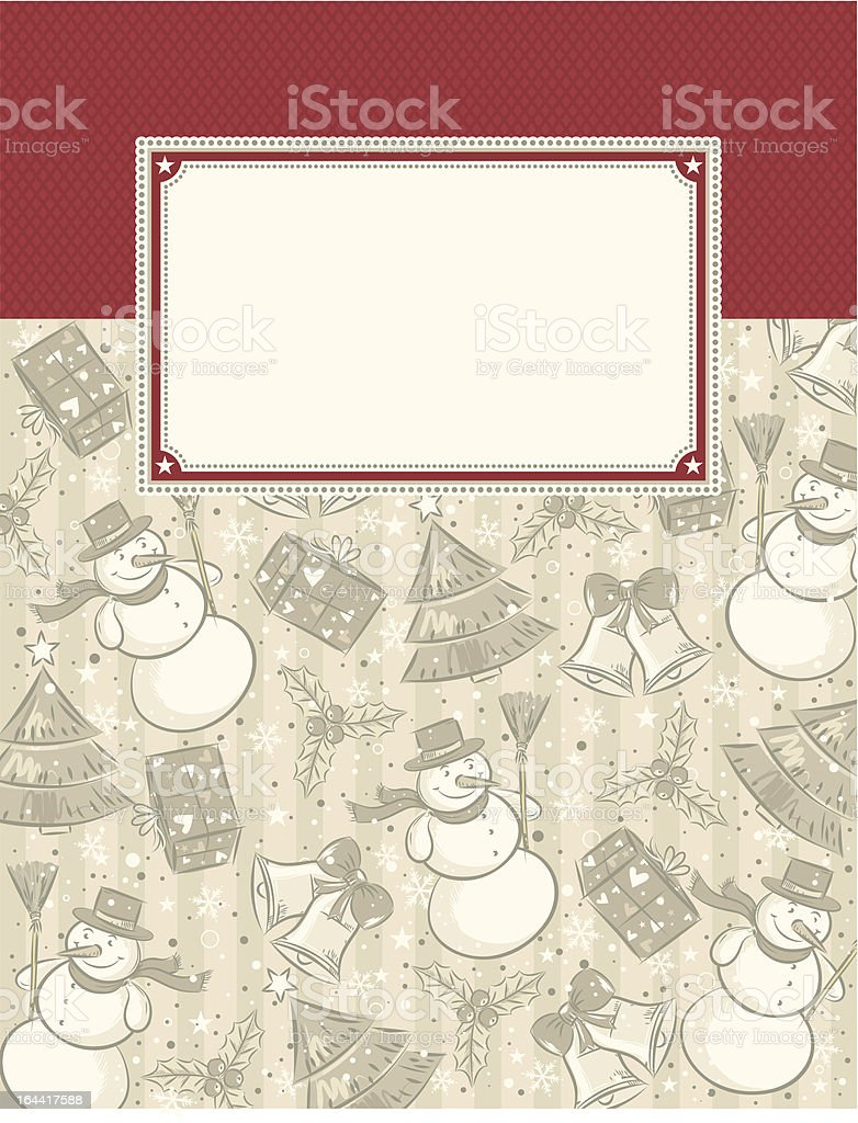 background with christmas elements royalty-free stock vector art