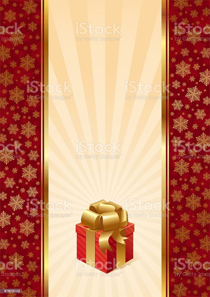 Background with Christmas gift royalty-free stock vector art