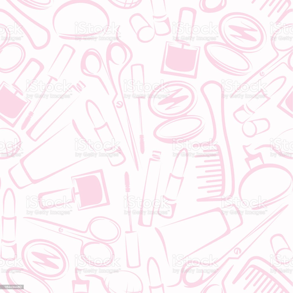 background with cosmetics royalty-free stock vector art
