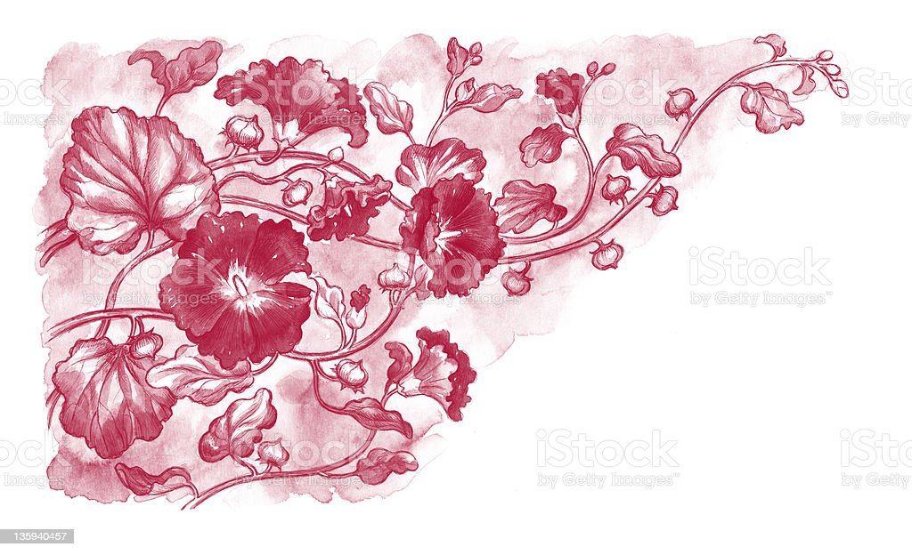 background with flowers royalty-free stock vector art
