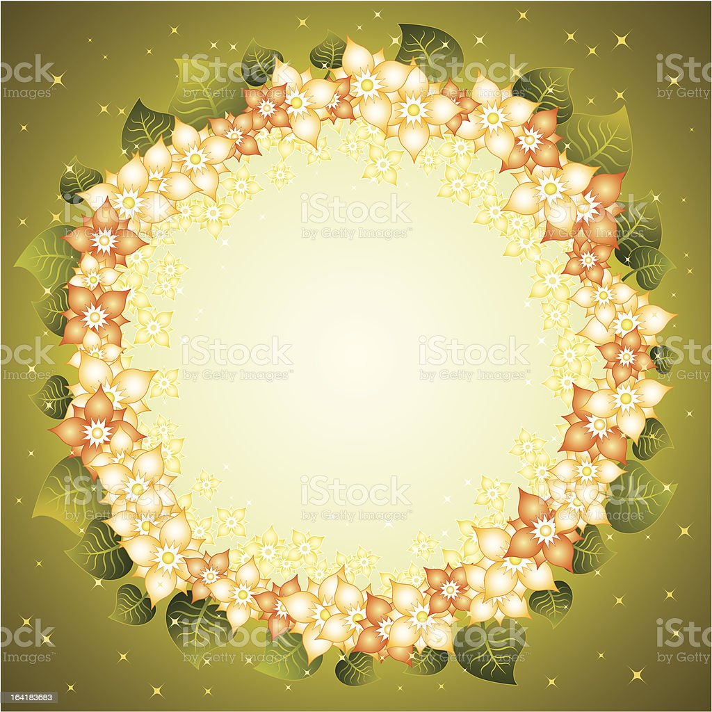 Background with flowers,vector royalty-free stock vector art