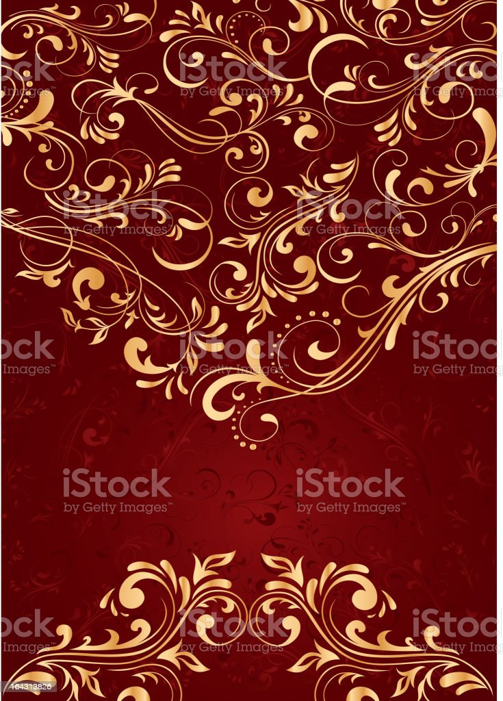 Background with gold pattern royalty-free stock vector art