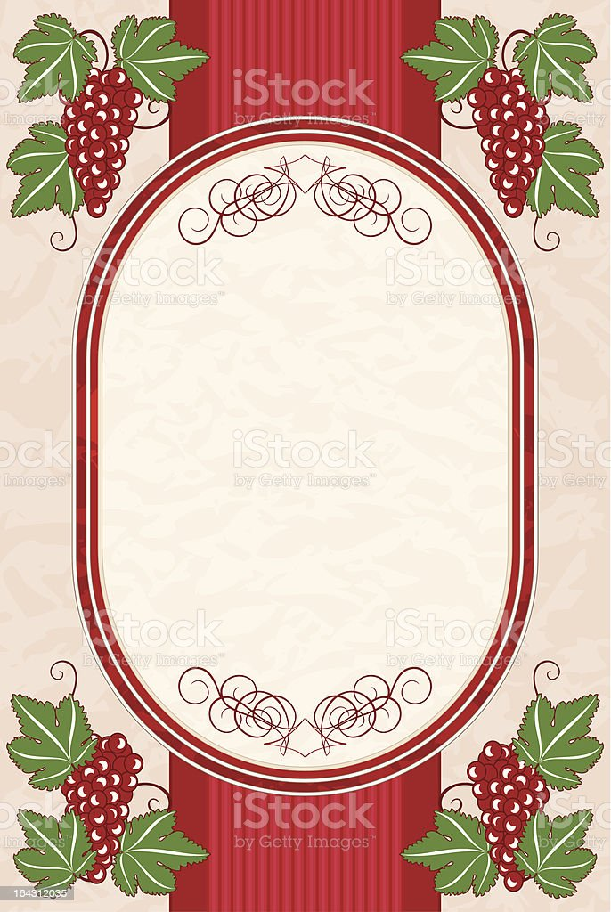 Background with grapes royalty-free stock vector art