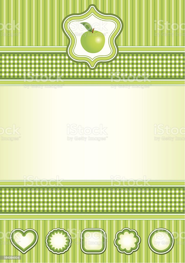 Background with green apple royalty-free stock vector art