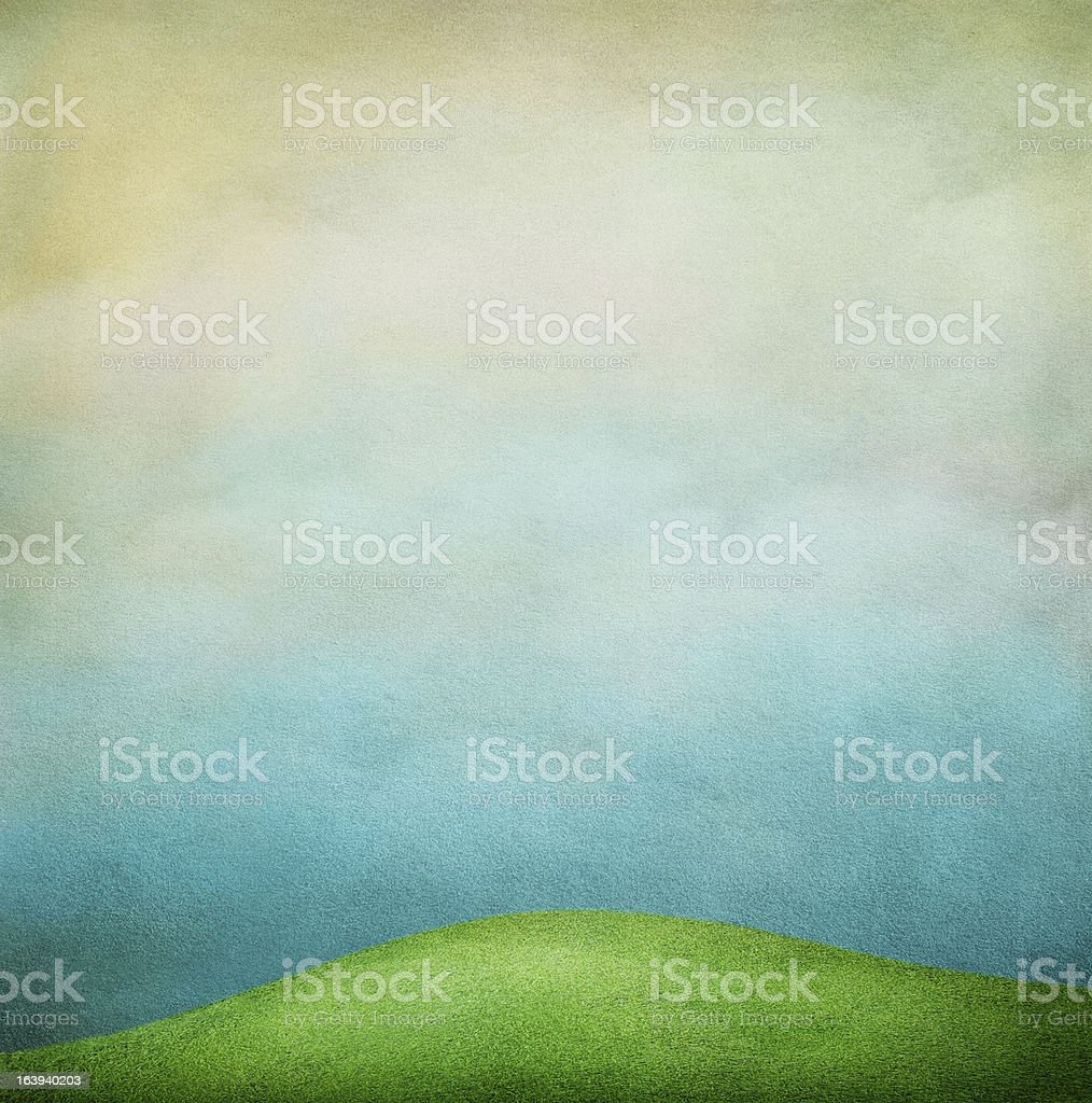 Background with green fields royalty-free stock vector art