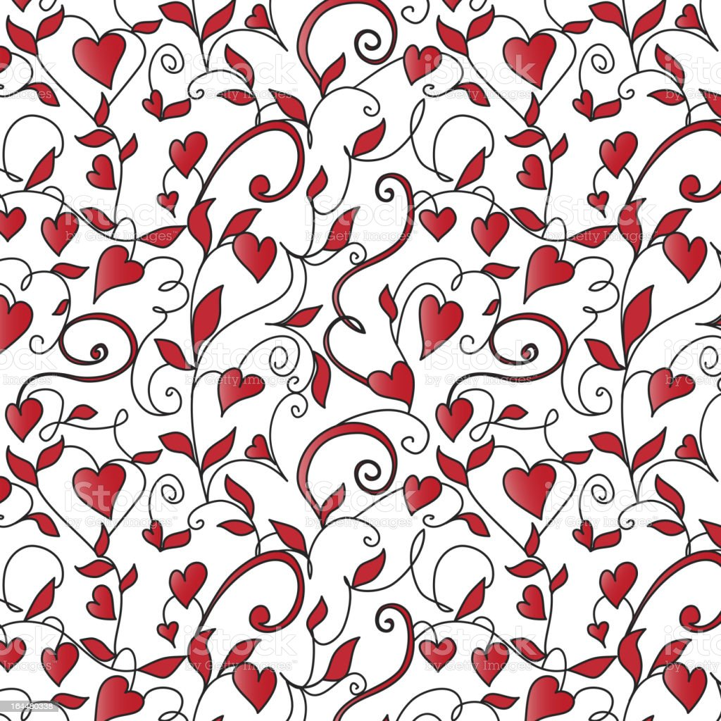 Background with hearts ornament royalty-free stock vector art