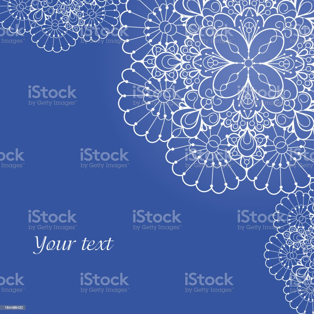 Background with lace ornament and space for your text royalty-free stock vector art