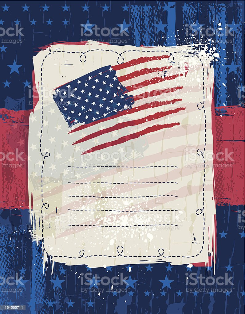 USA background with one decorative label royalty-free stock vector art