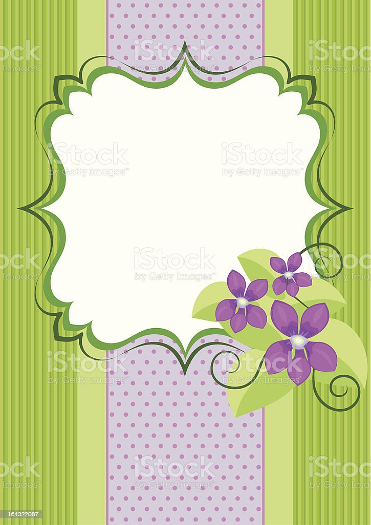 Background with violets royalty-free stock vector art